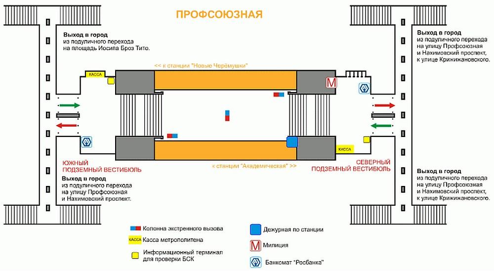 Схема подземного перехода на московском вокзале6